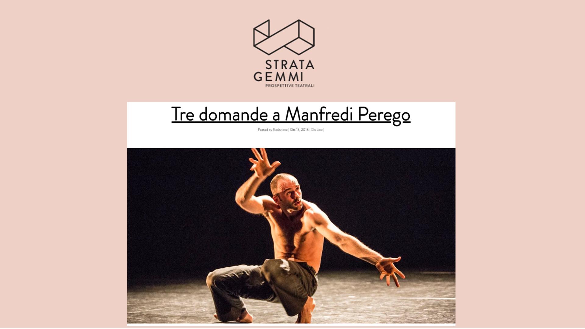 Intervista a Manfredi Perego / Stratagemmi