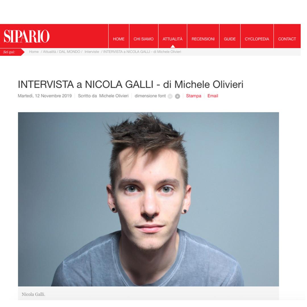 Intervista a Nicola Galli / Sipario