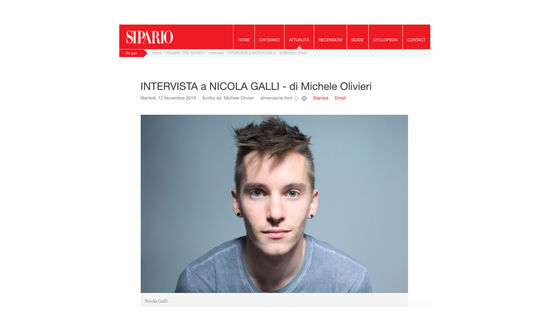 Intervista a Nicola Galli / Sipario