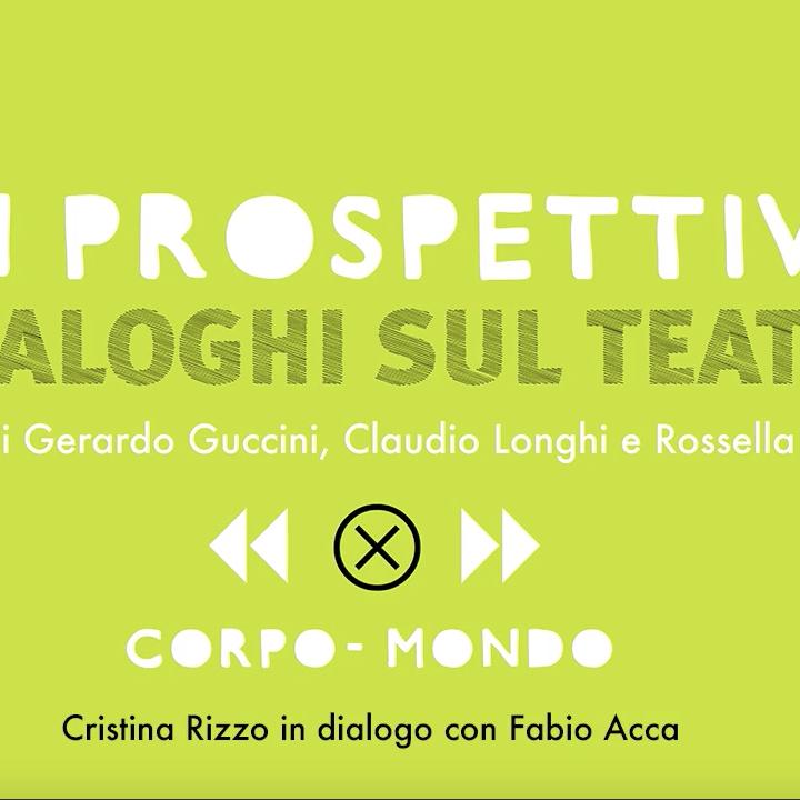 Fabio Acca dialoga con Cristina Kristal RIzzo