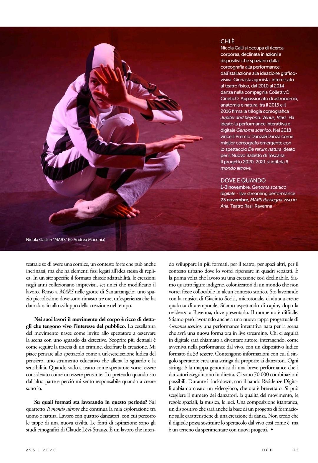 Intervista Nicola Galli / Danza&Danza