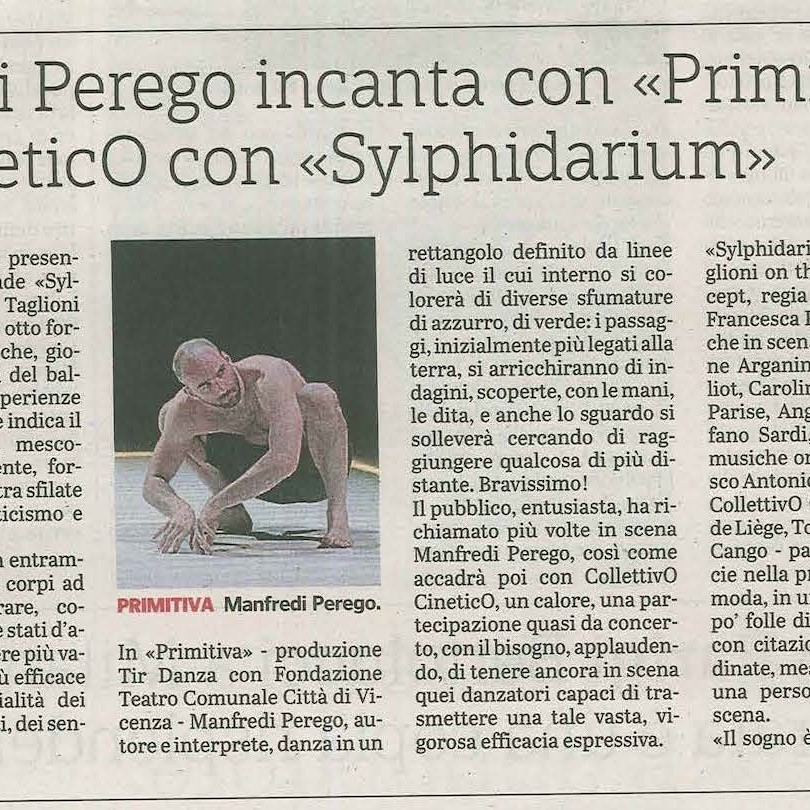 Recensione Primitiva / Manfredi Perego / Gazzetta di Parma, 7 maggio 18