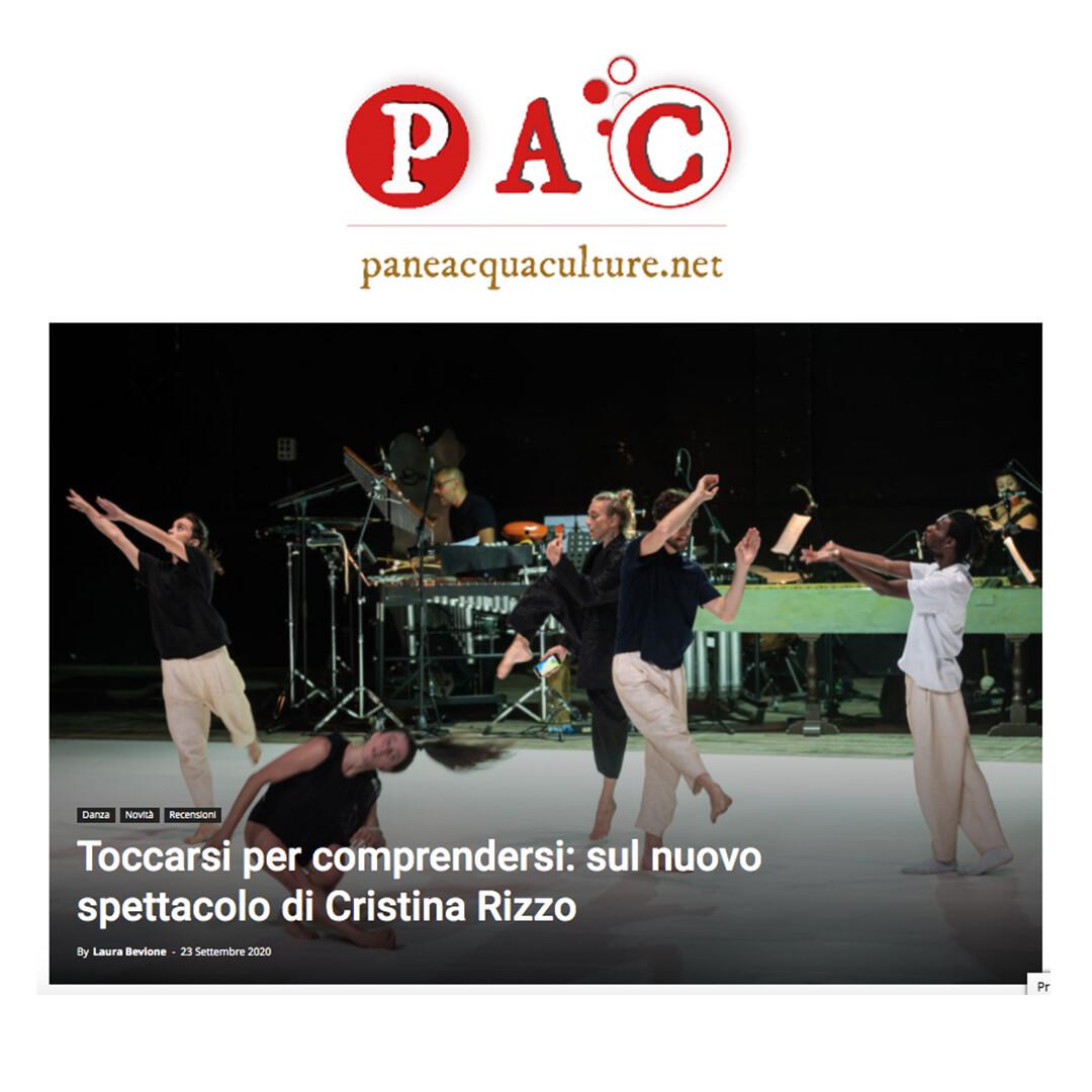 Recensione TOCCARE the White Dance | Cristina Kristal Rizzo | PAC