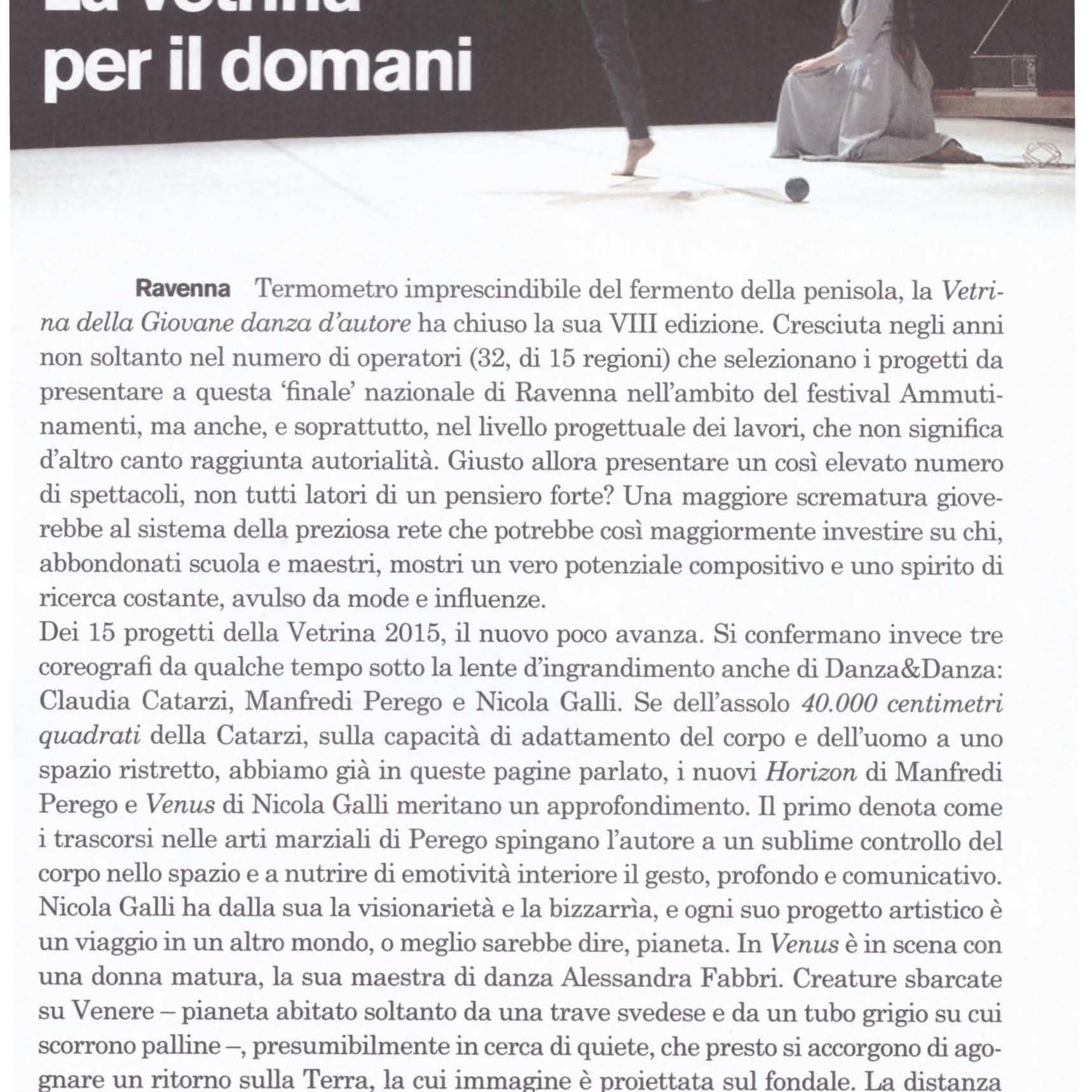 Nicola Galli Venus / Manfredi Perego - Horizon / Danza_e_danza Maria Luisa Buzzi_2015
